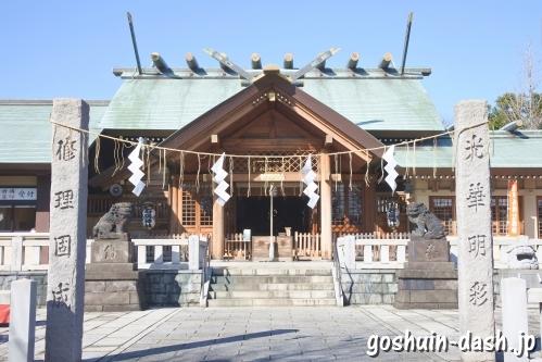 石浜神社(東京都荒川区)社殿(拝殿)
